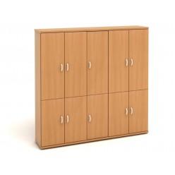 Шкаф высокий, цв. бук, 2129*424*2066