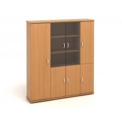 Шкаф высокий, цв. бук, 1829*424*2066