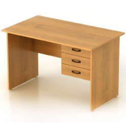 Стол 1-тумбовый с ящ., цв. миланский орех, 1202х702х750