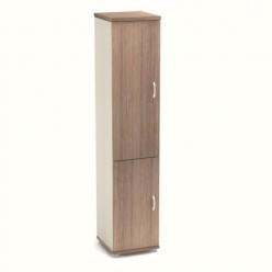 Шкаф узкий, цв. шамони тёмный, 430х445х2105