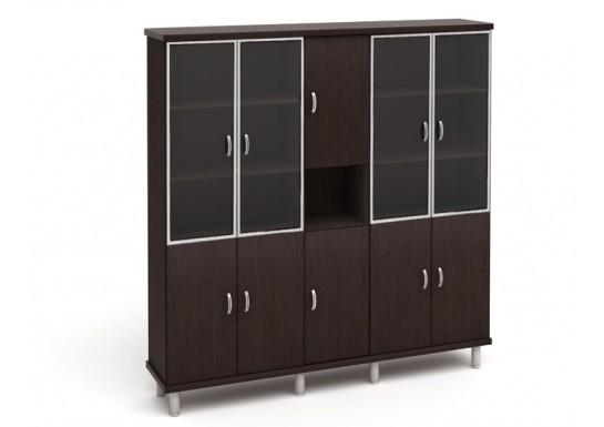 Шкаф для документов, цв. дуб венге, 2135*424*2140
