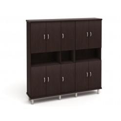 Шкаф закрытый для документов, цв. венге, 2135*424*2140