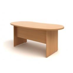 Стол руководителя, цв. бук, 1600х960х768