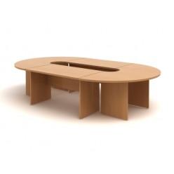 Стол переговорный, цв. бук, 3400*2000*750