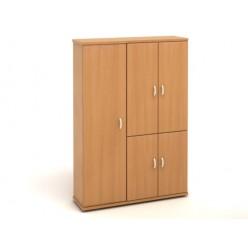 Шкаф высокий, цв. бук, 1404*424*2066