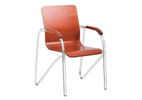 Конференц стул Samba Wood Chrome