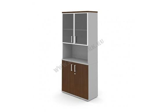 Шкаф полуоткрытый со стеклом, 810х350х1900
