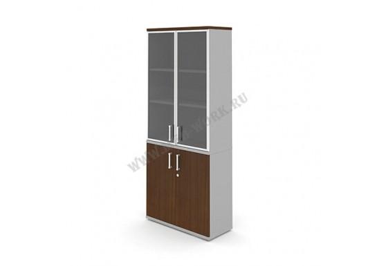 Шкаф широкий со стеклом, 810х350х1900