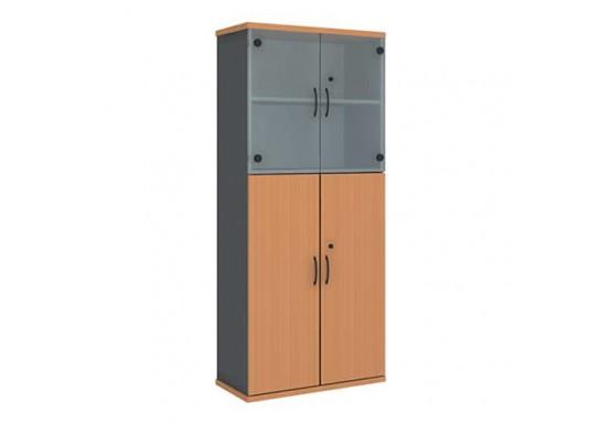 Шкаф узкий со стеклом (800* 370 *1849)