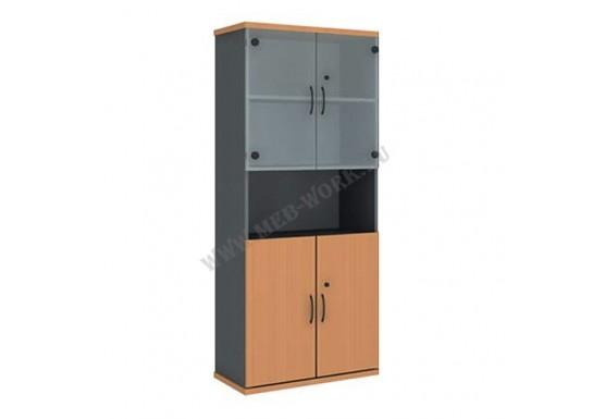 Шкаф со стеклом полуоткрытый (800 *370 *1849)