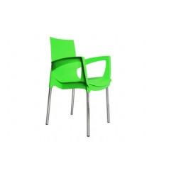 Кресло Ricco пластиковое на металлокаркасе