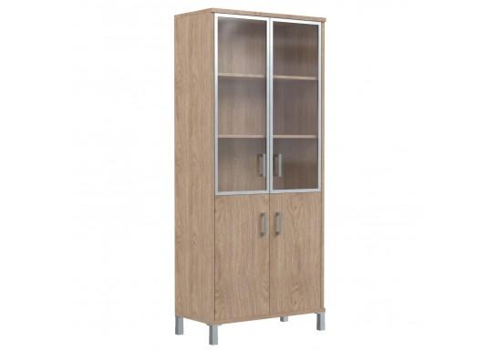 Шкаф со стеклом, цв. дуб, 900х435х1904