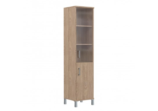 Шкаф со стеклом, цв. дуб, 475х435х1904