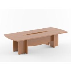 Стол переговорный, цв. орех, 3000х1300х750