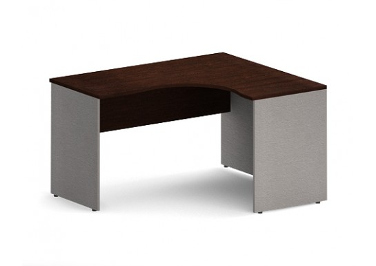Стол эргономичный, цв. венге/металлик, 1400х1200х755