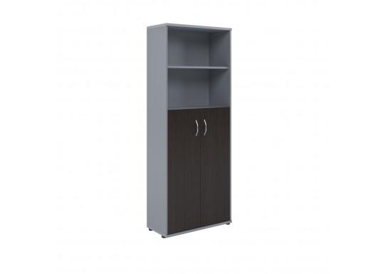 Шкаф полуоткрытый, цв. венге/металл, 770х365х1975