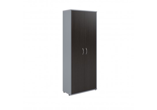 Шкаф для бумаг, цв. венге/металлик, 770х365х1975