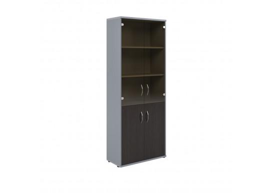 Шкаф со стеклом, цв. венге/металл, 770х365х1975