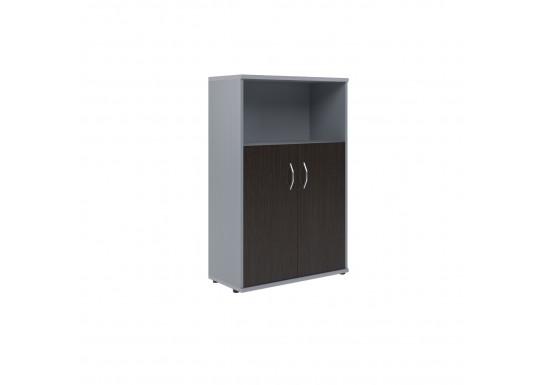 Шкаф полуоткрытый, цв. венге/металлик, 770х365х1200