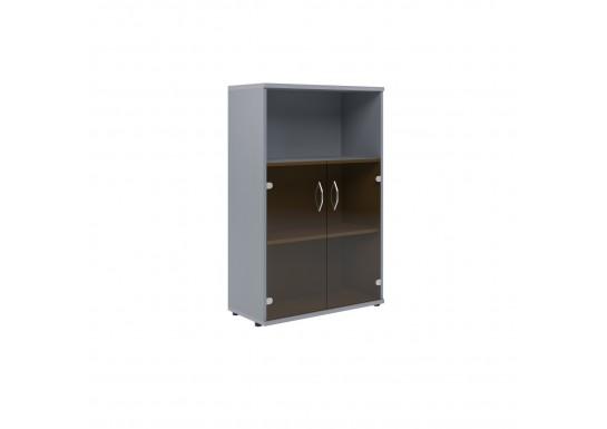 Шкаф со стеклом, цв. венге/металл, 770х365х1200