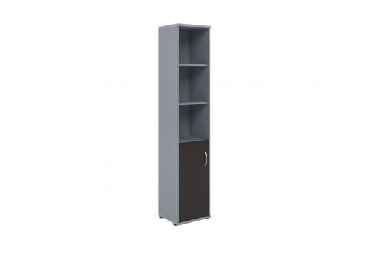 Шкаф полуоткрытый, цв. венге/металл, 403х365х1975