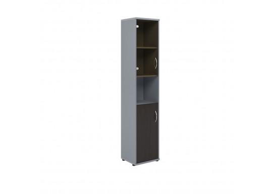 Шкаф открытый, цв. венге/металл, 770х365х1975