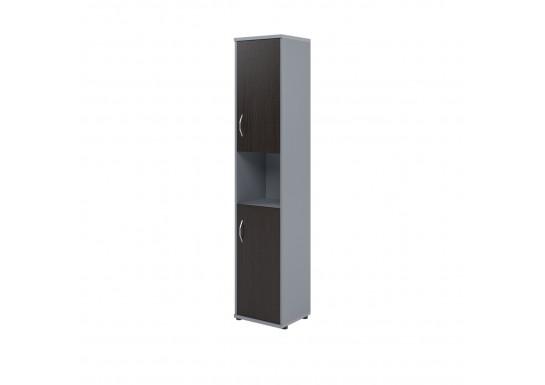 Шкаф полузакрытый, цв. венге/металл,  406х365х1975