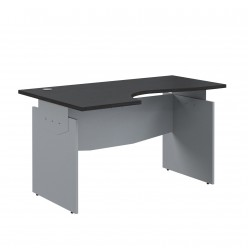 Стол эргономичный, цв. венге/металлик, 1300x1300x760