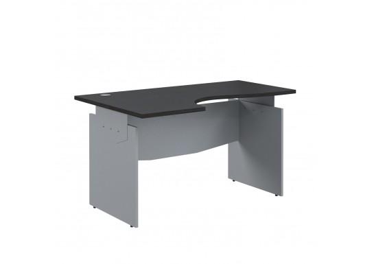Стол эргономичный, цв. венге/металлик, 1600x1300x760