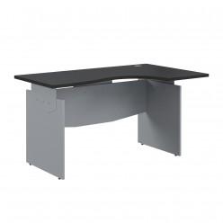 Стол эргономичный, цв. венге/металлик, 1600x1000x760