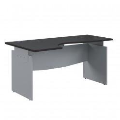 Стол эргономичный, цв. венге/металлик, 1600x1400x760