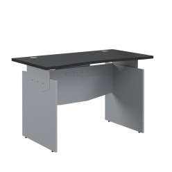 Стол прямой эргономичный, цв. венге/металлик, 1400x700x760