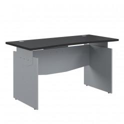 Стол прямой эргономичный, цв. венге/металл, 1600x700x760
