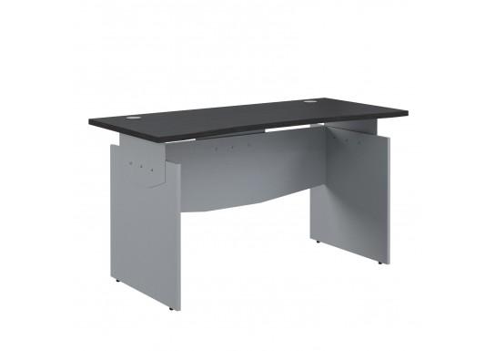 Стол прямой эргономичный, цв. венге/металлик, 1600x800x760