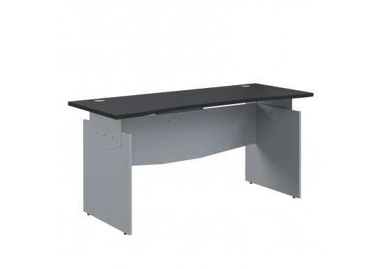 Стол прямой эргономичный, цв. венге/металлик, 1800x800x760