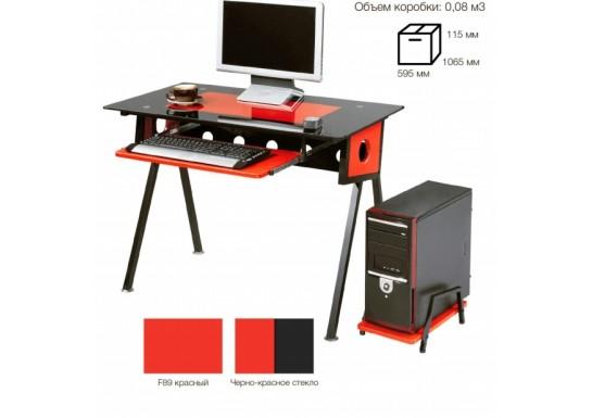 Стол компьютерный SB-T1229BR черный с красным