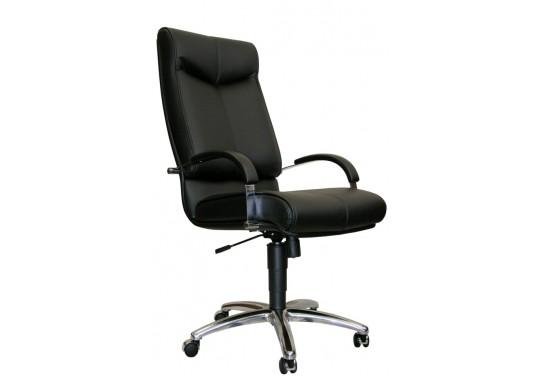 Кресло руководителя Мажор В хром, нат.кожа