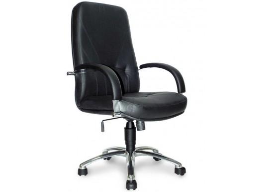 Кресло руководителя Комо В, хром, натур. кожа