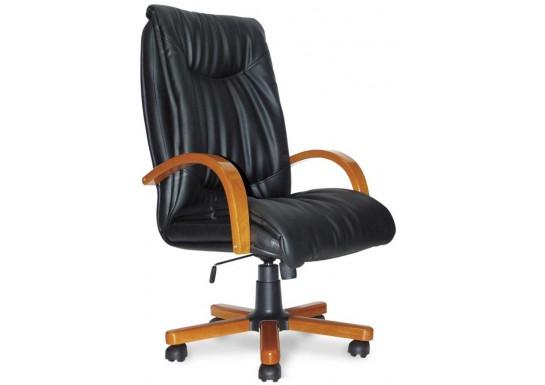 Кресло руководителя Свинг В, кожа, дерево